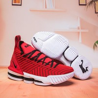Nike LeBron 16 Red White Black Basketball Shoes - Best Deal Online