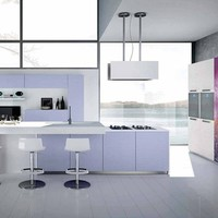 WOODEN FITTED KITCHEN WITH ISLAND WITH HANDLES NILDE | KITCHEN | CUCINE LUBE
