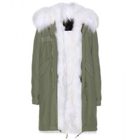 mr & mrs furs - garance fur-lined parka
