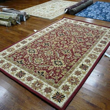 Chelsea Transitional Indoor Area Rug Red / Ivory