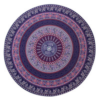 Wall Tapestry Hippy Boho Gypsy Cotton Tablecloth Beach Towel , Round Yoga Mat 11596 148cm*148cm