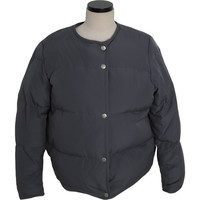 Off-Center Snap Button Puffer Jacket