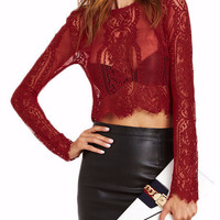 Heidi Lace Crop Top