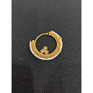 Spiral design gold plated Indian Nose Ring