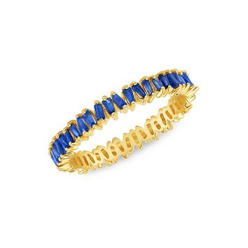 Brilliant Baguette Band in Blue Sapphire