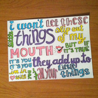 Little Things lyric drawing by harrysfirstwife on Etsy
