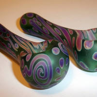 Glass Pipe, Sandblasted Swirl and Dotted Pipes, Made to Order, Cgge Team