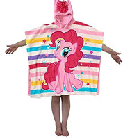 SMJAITD My Little Pony Pinkie Pie Soft Fleece Poncho with Mane
