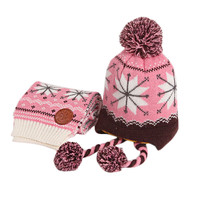 Infant Baby Winter Warm Knitting Baby Beanie Hat Pink