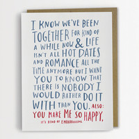 Awkward Love Card, Funny Love Card by Emily McDowell Anniversary Card / No. 142-C
