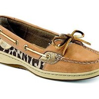 Sperry Top-Sider Womens Angelfish Boat Shoe in Shimmer Leopard STS91529