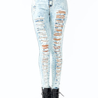 high-waisted-distressed-jeans LTBLUE - GoJane.com
