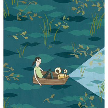 "Sale: Girl At Sea Art Print (8x10"")"