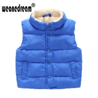 WEONEDREAM Baby Outerwear Waistcoats Boys Girls Solid Vest Kids Single Breasted Coat Fashion New Children's Clothing 4 Colors