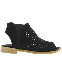 Musse & Cloud Nicky - Black Laser-Cut Sandal Bootie