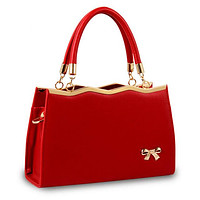 YGP-ROYAL-BOW Women's Fashion Genuine Leather Luxury Shoulder Crossbody Designer Handbag