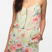 Urban Outfitters - Lucca Couture Chiffon Zip-Front Romper