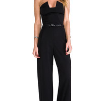 Black Halo Lena Jumpsuit in Black