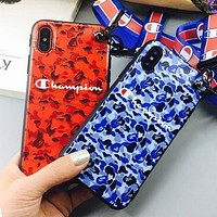 Champion Fashion Camouflage iPhone Phone Cover Case For iphone 6 6s 6plus 6s-plus 7 7plus 8 8plus X
