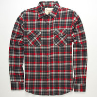 Coastal Good Thing Mens Flannel Shirt Red  In Sizes