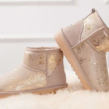New Beige Round Toe Fashion Ankle Boots
