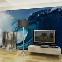 Custom home decor wall murals papel de parede ocean waves photo wallpaper mural for living room bedroom tv sofa background decal