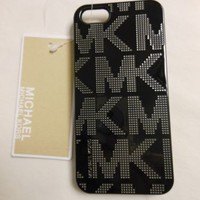 MICHAEL KORS MK Black cell phone case for iphone 5 / 5s MSRP $38  LUXURIOUS