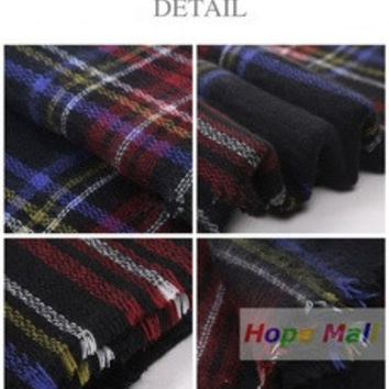 2016 New Hote  Fashion Checked Scarf Women Blanket Oversized Plaid Tartan Scarf Wrap Shawl (Color: Multicolor) [9572878735]