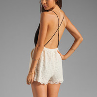 6 SHORE ROAD Malay Lace Romper in Night from REVOLVEclothing.com