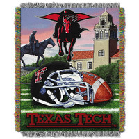 Texas Tech Red Raiders NCAA Woven Tapestry Throw (Home Field Advantage) (48x60)