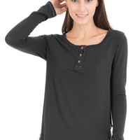 LEXIE - WOMENS LONG SLEEVE HENLEY