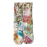 Foreign Currency Socks