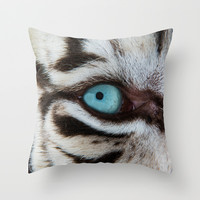 WHITE TIGER BEAUTY Throw Pillow by Catspaws   Society6