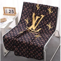 LV Louis Vuitton men's and women's large bath towel, absorbent and non-shedding beach towel, swimming sweat towel