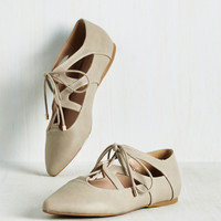Plie It By Cheer Flat | Mod Retro Vintage Flats | ModCloth.com