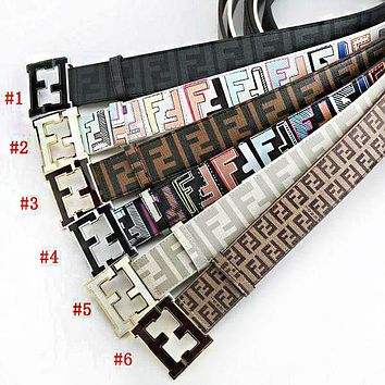FENDI Woman Fashion Smooth Buckle Belt Leather Belt F-A-GFPDPF