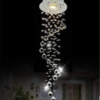 Modern Luxury Spiral LED Crystal Chandelier Ceiling Lustre de Crystal ball Pendant Hanging Lamp Home Kitchen Lighting Fixtures