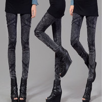 New Fashion Womens Pants Elastic Waisted X Shape Pattern Sexy Slim Denim Skinny Trousers Pencil Pants Jeans M/L/XL/2XL/3XL/4XL = 1930168324