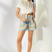 Urban Renewal Recycled Silky Scarf Short | Urban Outfitters
