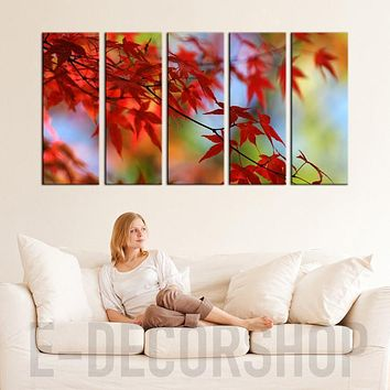 Large Wall Art Canvas Prints Art Framed Autumn Prints For Wall Framed Ready to Hang Autumn