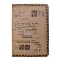 ZLYC Vintage Style Postage Stamp Cite Island Travel Passport Cover Case Holder (Brown 2)