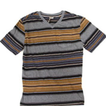 1897 Striped V-Neck Pocket Tee for Men KV43010M
