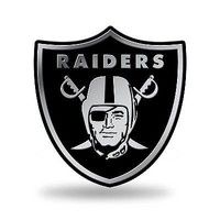 Oakland Raiders Raised Silver Chrome Colored Auto Emblem Decal Football