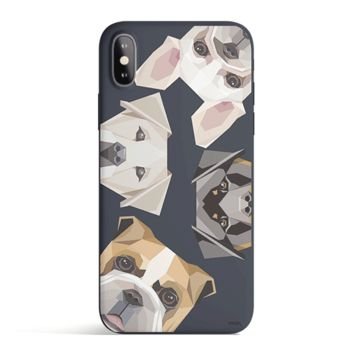 Dogs With Attitude - Colored Candy Cases Matte TPU iPhone Cover