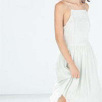 Embroidered dress with straps