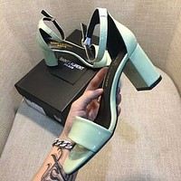 YSL Women Casual Low Heeled Shoes Sandals Shoes