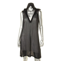 Kenneth Cole Reaction Womens Lace Hooded Dress Swim Cover-Up