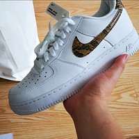 Nike Air Force 1 Low Snake Print Women's Sneakers Shoes