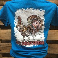 Southern Chics So Southern Rooster Bright T Shirt