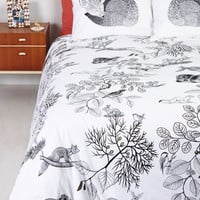 Woodland Creature The Wild Snooze Yonder Duvet Cover in Queen by ModCloth